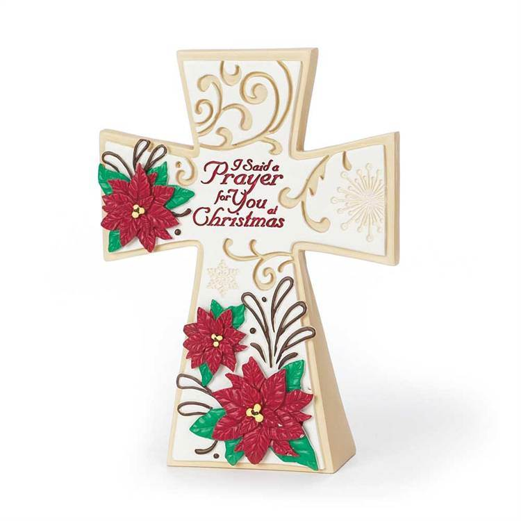 I Said A Christmas Prayer Cross*WHILE SUPPLIES LAST* cross, christamas cross, trendy cross, standing cross, table cross, memorial cross, holiday cross, chtcr-803