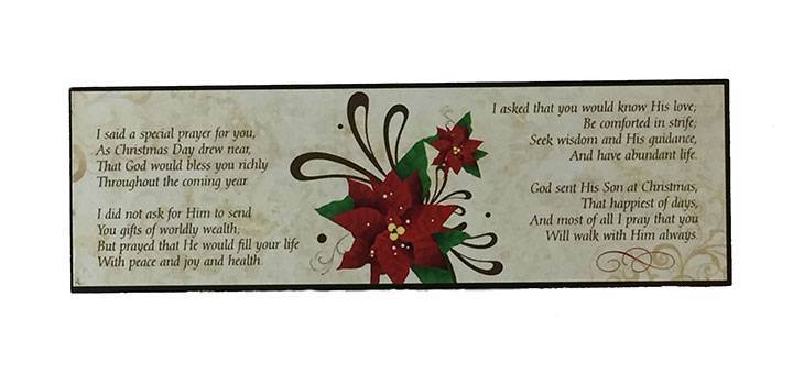 I Said A Prayer for You at Christmas Plaque - back
