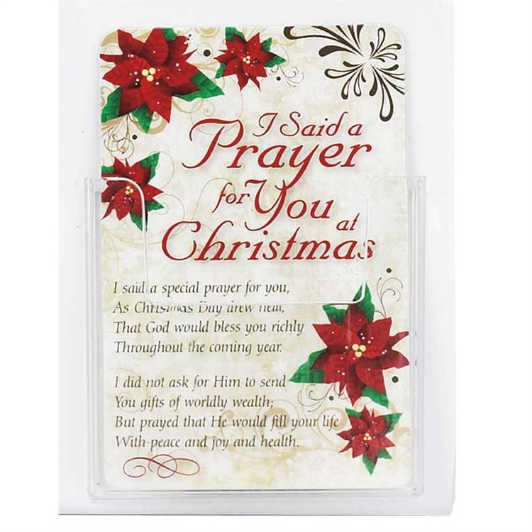 i said a prayer for you at christmas pocketcard