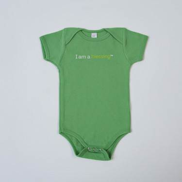 I am a blessing™ Baby Outfit cmas15n, baby gear, onsie, i am a blessing, green onsie, st pats day, youth, girl, boy, baby gift, baby shower gift, baptism gift,