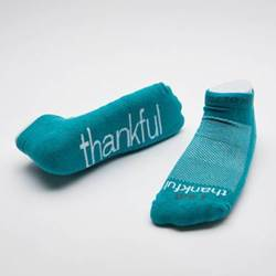I am thankful  Teal Socks