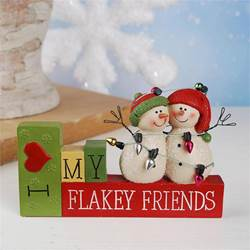 I love my Flakey Friends Snowman Decoration