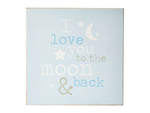 I love you to the Moon and Back Blue Wall Art