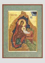 Icon Madonna and Child Traditional Boxed Christmas Cards christmas cards, boxed cards, holiday cards, stationary, seasonal cards, BNMNAT