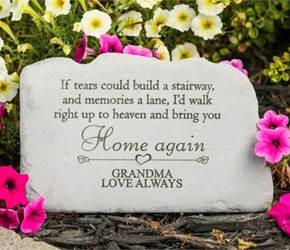If Tears Could Build a Stairway Personalized Memorial Garden Stone