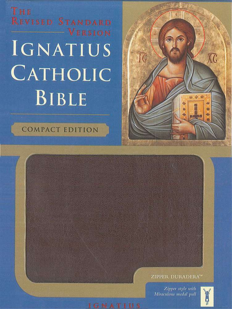 Ignatius Bible (Compact) Burgundy W/Zipper