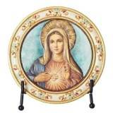 Immaculate Heart of Mary Plaque with Easel