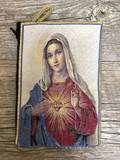 Immaculate Heart of Mary Woven Pouch from Turkey
