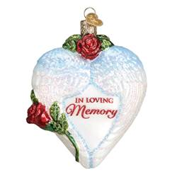 In Loving Memory Heart Glass Ornament