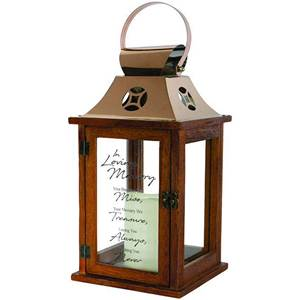 In Loving Memory LED Wood Lantern