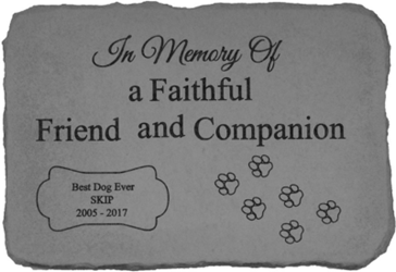 Faithful Friend Personalized Garden Stone *SPECIAL ORDER NO RETURN*