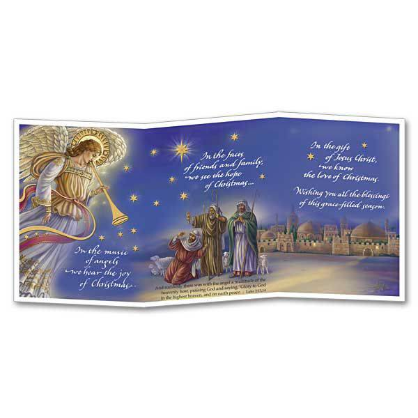 in the music of angels boxed trifold christmas cards - Tri Fold Christmas Cards