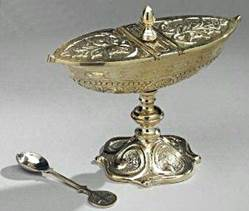 Incense Boat incense boat, metalware, church goods, boat and spoon, brass boat, 10-460