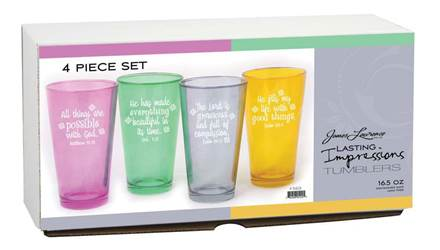 Inspirational Glass Tumbler Set