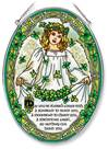 "Irish Angel 9"" Glass Suncatcher"