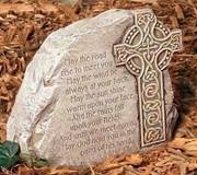 Celtic Cross Garden Stone