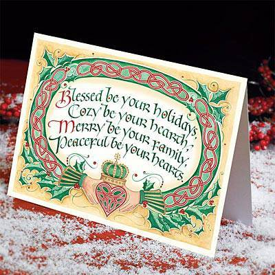 Irish Christmas Blessing Cards*WHILE SUPPLIES LAST* christmas cards, boxed cards, seasonal cards, boxed christmas cards, irish cards, claddagh christmas cards, irish blessing, 53340