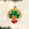 Irish Claddagh Glass Ornament