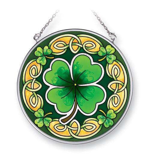 "Irish Shamrock 7"" Glass Suncatcher"