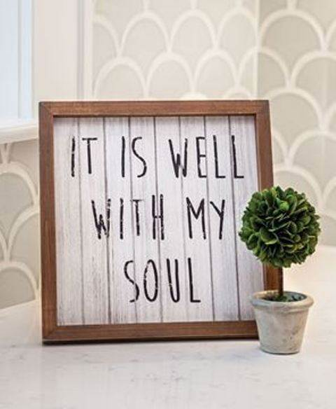It is Well with My Soul Framed Sign