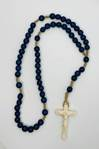 Italian Blue Wood Rosary