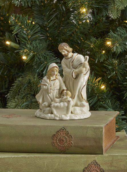 Ivory/Gold Holy Family