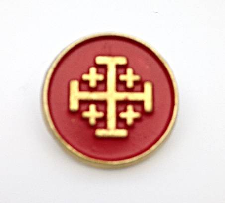 Jerusalem Cross Lapel Pin/25 PK
