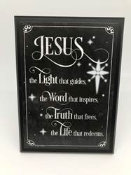 Jesus Chalk Plaque