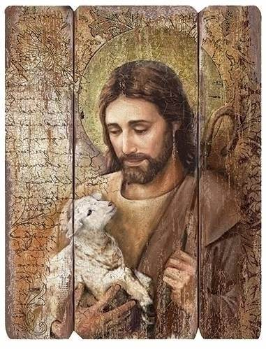 "26"" Jesus Lamb of God Decorative Panel wall decor , wall panel, decorative panel, home decor, church decor, jesus, shepherd, jesus and lamb, 44556"