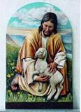 Jesus Holding Lamb Wall Relief