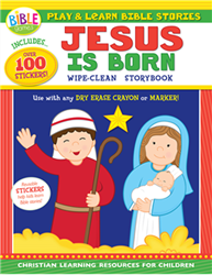 Jesus Is Born: Play And Learn Bible Stories With Reusable Stickers