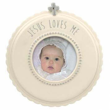 Jesus Loves Me Ceramic Frame