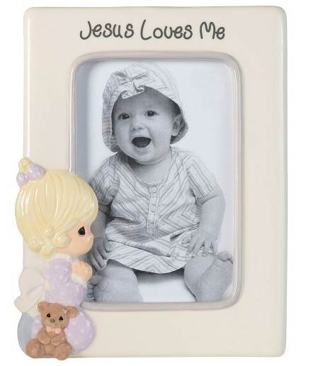 Jesus Loves Me Praying Girl Photo Frame