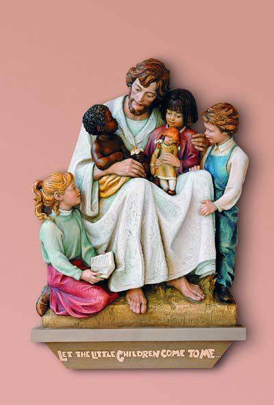 Jesus Welcomes the Little Children Wall Relief