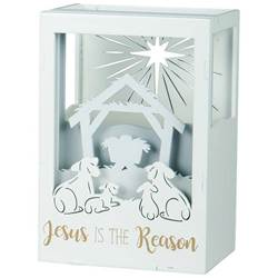 Jesus is the Reason Lighted Shadow Box