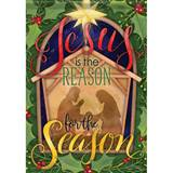 "?Jesus is the Reason for the Season Garden Flag, 12.5"" x 18"""