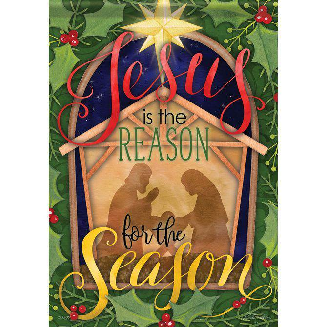 "?Jesus is the Reason for the Season House Flag, 28"" x 40"""