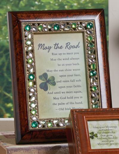 Jeweled Irish Blessing Frame