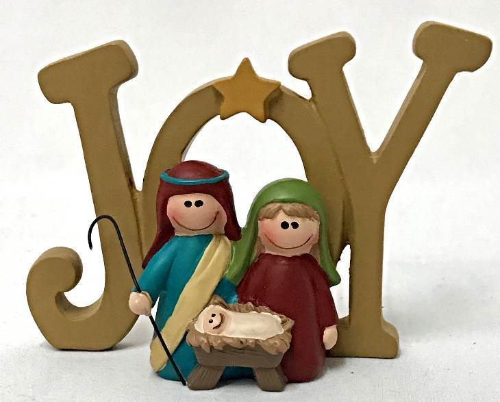 Joy Plaque with Holy Family