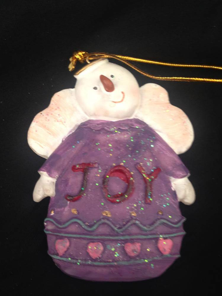 Joy Snowman Angel Ornament