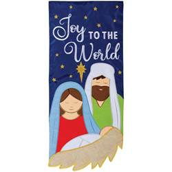 """Joy To The World"" Double Applique Garden Flag"