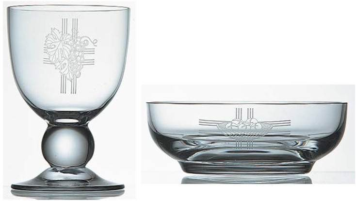 K1250 Engraved Crystal Chalice & Paten