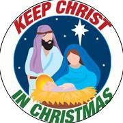 Keep Christ in Christmas Nativity Auto Magnet