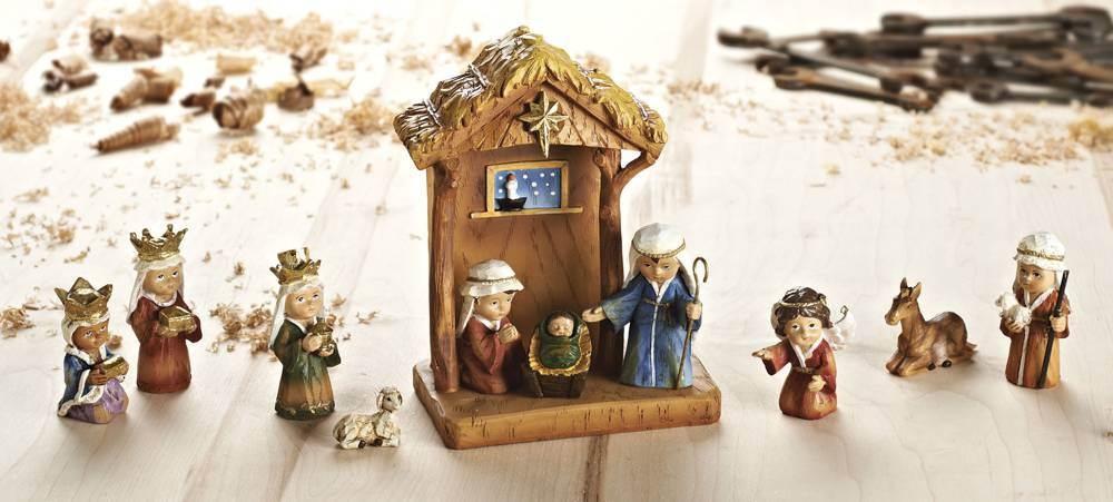 Kiddie 11 Piece Nativity Set