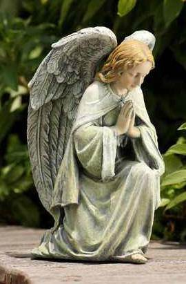 Kneeling Angel Garden Statue garden statue, guardian angel statue, outdoor figure, praying angel statue, stone/resin statue, 19359