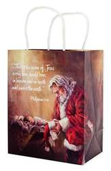 Kneeling Santa | Every Knee Shall Bow Gift Bag