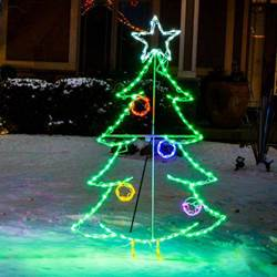 LED Christmas Tree with Ornaments