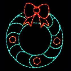 LED Christmas Wreath with Berries