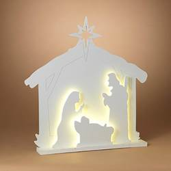 LED Electric Manger Scene Silhouette