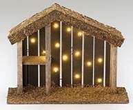 "LED Fontanini Nativity Stable 10""x13"""